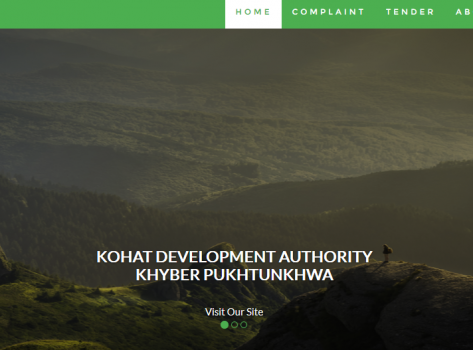 Kohat Development Authority Govt. of KPK, Pakistan