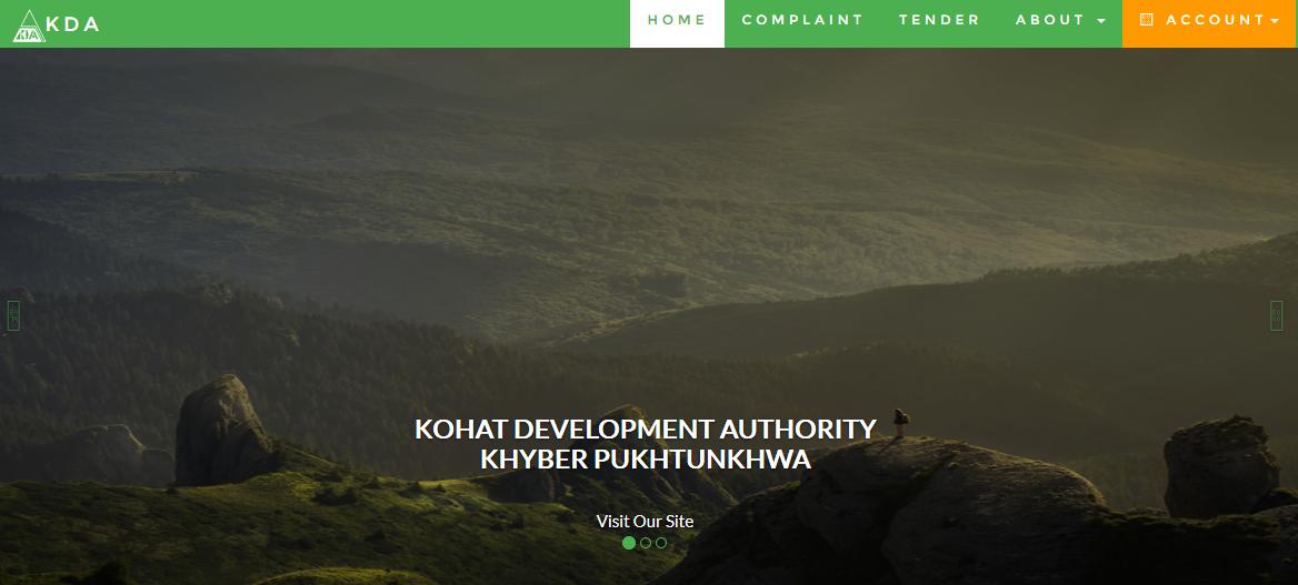 Kohat Development Authority, Government of Khyber Pakhtunkhwa