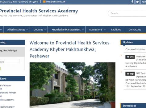 Provincial Health Services Academy Khyber Pakhtunkhwa, Peshawar
