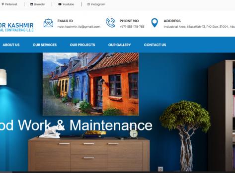 Website for Noor Kashmir General Contracting LLC Abu Dhabi | MADAAR Technologies - MADAAR HOSTING - DOMAINS, Linux Shared Hosting, CPanel